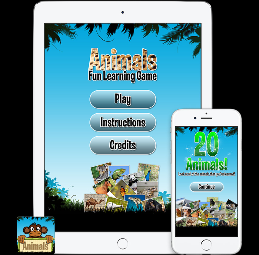 Animals Learning Game App | Saitep Design | Graphic Design
